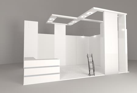 Leere leere Standstand-Modellvorlage. 3D-Rendering