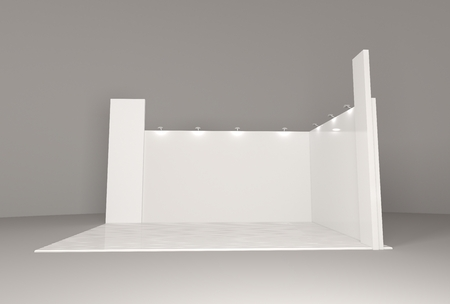 Empty blank stand booth mock-up template for your design