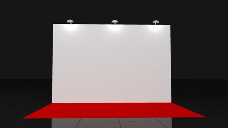 Backdrop With Red Carpet 2x3 Meters 3d Render For Your Deisgn Stock Photo Picture And Royalty Free Image Image 119762339