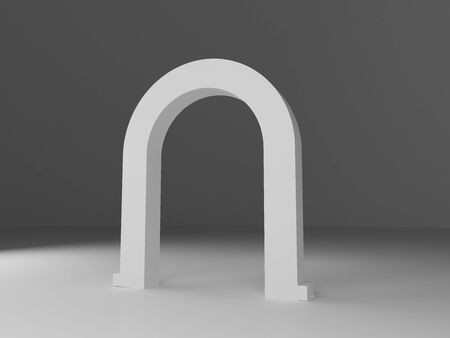 Blank Inflatable square Arch Tube or Event Entrance Gate. 3d render.