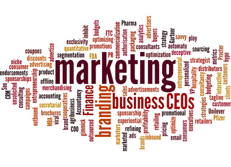 Palabra negocio Marketing / nube de palabras Foto de archivo - 35587290