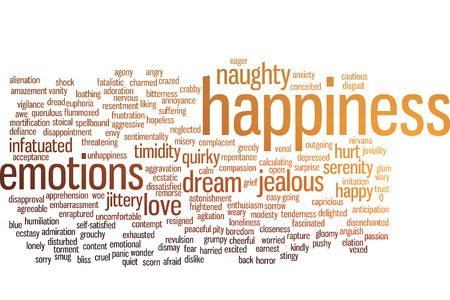 enraptured: Happiness emotions wordwords cloud