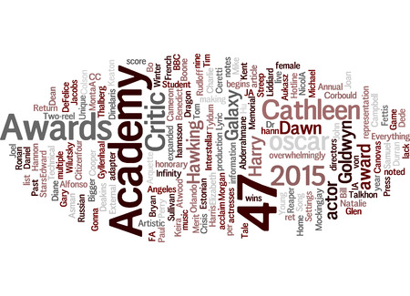 47th Academy Awards Oscar word cloud.