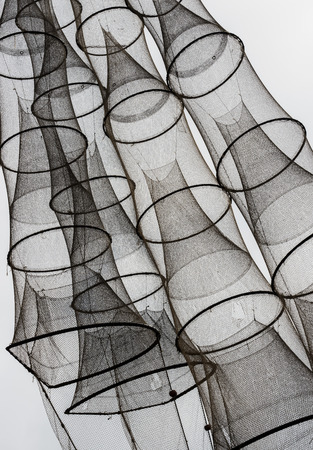 fishingnet: Fish Nets in the sky. Stock Photo