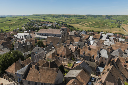 Great view from the town of Sancerre and the vineyards of Sancerre.
