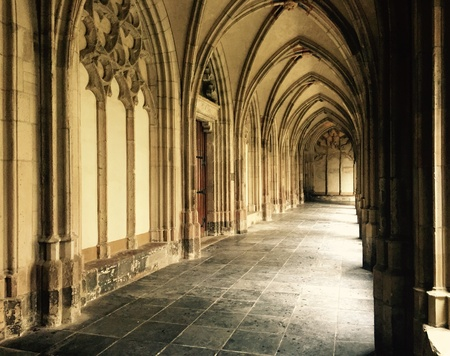 dom: Part of the Dom in Utrecht, Netherlands. Stock Photo