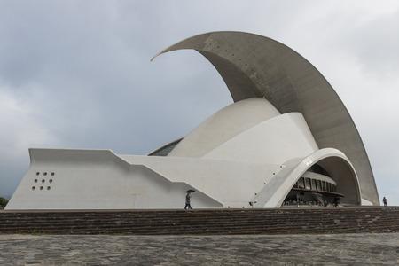 santa cruz de tenerife: Concert hall of Calatrava in Santa Cruz de Tenerife on the Canary Islands.