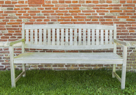 woden: Garden bench on the graveyard of the church of Den Hoorn on the island of Texel.