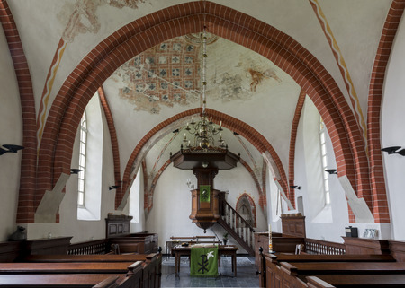 theology: Interior of the church of Den Andel in the province of Groningen.