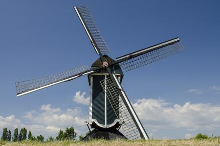 maas: Mill at Batenburg on a dike near the Maas and the town of Batenburg.