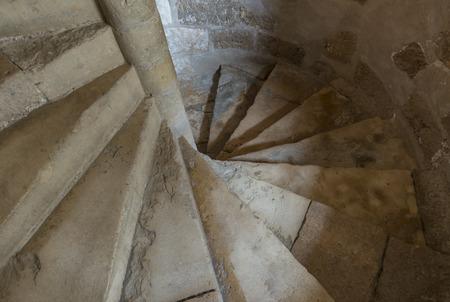 winding: winding stairs  Stock Photo