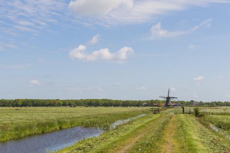 lemmer: The mill Zwaantje in Friesland province near Lemmer The Netherlands image Daan Kloeg Commee