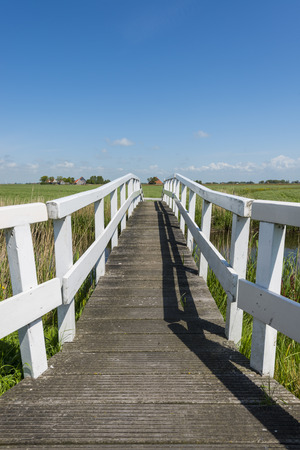Picturesque Whitebridge Tillefonne for hikers in summer at Workum in Friesland province near Lemmer The Netherlands image Daan Kloeg Commee