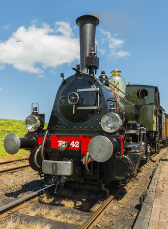 steam train: Steam train in Enkhuizen, Noord-Holland. Editorial