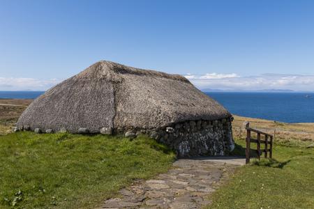 skye: Farmhouse at the Skye Museum of Island Life, Scotland.