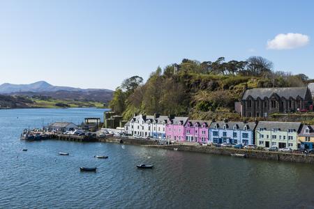 Harbor of Portree on the Isle of Skye, Scotland.