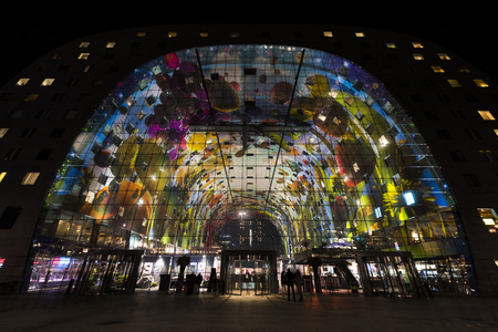 Markthal - Marketplace - in Rotterdam city.