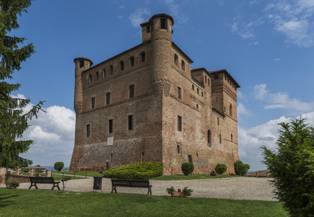 cavour: Grinzane Cavour, Italy - May 30, 2016: Wine Castle Grinzane Cavour in  Piedmont in Barolo district in Italy. Editorial