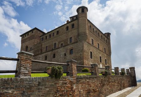 cavour: Grinzane Cavour, Italy - May 30, 2016: Castle Grinzane Cavour in  Piedmont, Italy Editorial