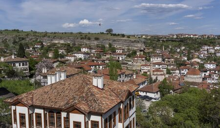Safranbolu, Turkey - May 1, 2019:  Touristic village with typical Turkish white houses and minarets. Redactioneel