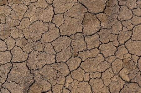 Dry and cracked groud caused by climate change.