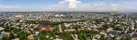 Osh, Kyrgyzstan - June 29, 2019: Panorama of the districts kapital Osh in Kyrgyzstan. Editorial