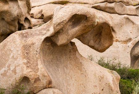 Rock formations and sculpters in Bektau Ata in Kazakhstan.