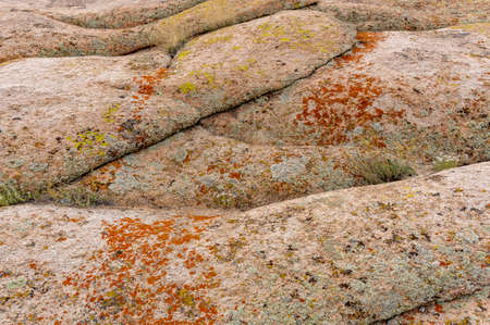 Rock formations in Bektau Ata in Kazakhstan.