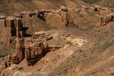 Panorama of Charyn Canyon National Park in Kazakhstan. Фото со стока