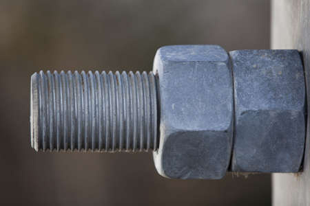Large anchor bolt and nuts
