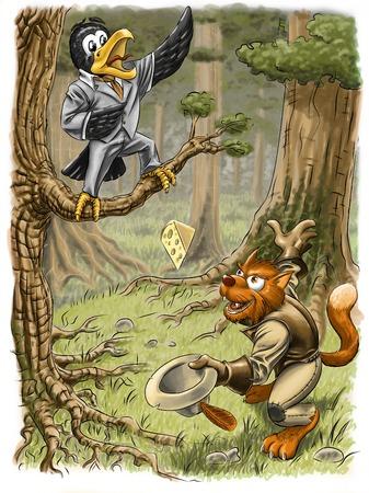 The crow and the fox Reklamní fotografie