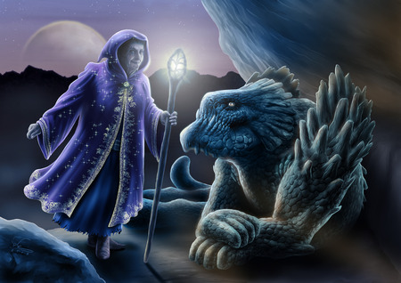 blue dragon: The sorceress and the dragon