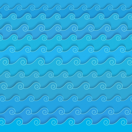 The waves of the sea Vector