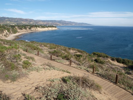 A wide view of the Malibu Pacific coast. Stock Photo - 4295242