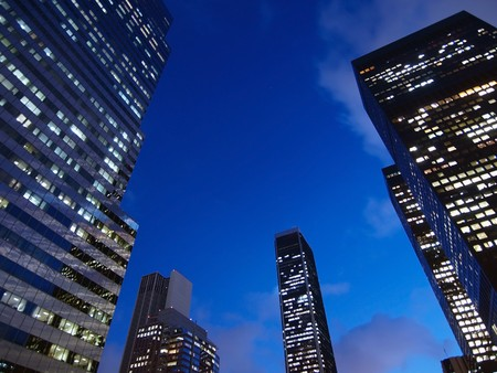 Highrise office towers in early evening light. Stock Photo - 4295195