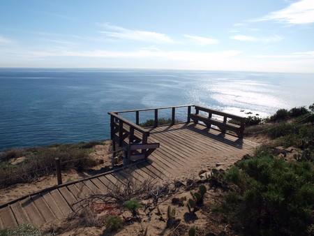 A high rest spot above the California Malibu Coast. Stock Photo - 4295236