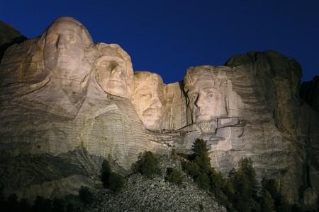 'mt rushmore': Magic hour at Mt. Rushmore National Monument in South Dakota