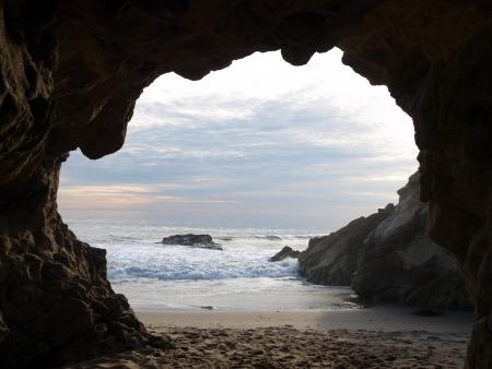 cueva: Cueva del Mar del Sur de California donde muchas pel�culas se filman Foto de archivo