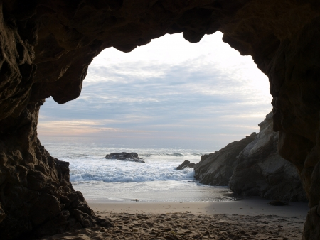 Southern California Sea Cave where many movies are filmed