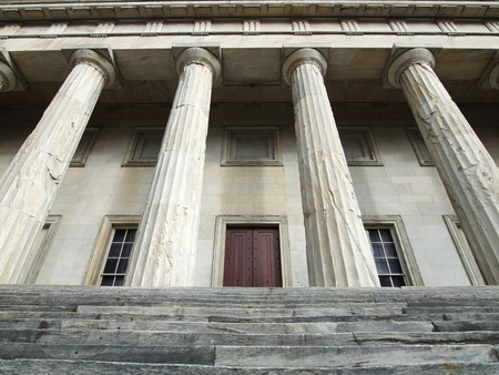 The historic Second National Bank building in Indepence National Park. Philadelphia PA Stock Photo - 4331098