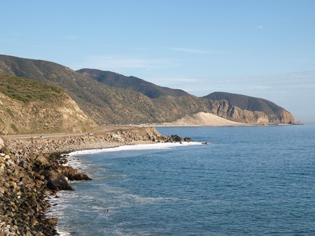 Opan Coastline and Pacific Coast Hwy in Southern California Stock Photo - 4331166