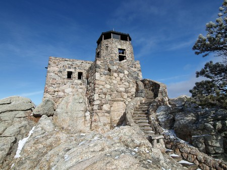 Historic Harney Peak Fire Tower in Black Hills National Forest photo