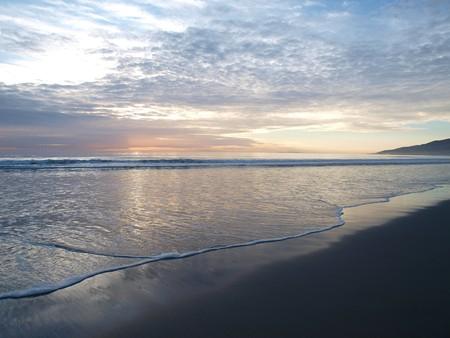 Soft evening light at famous Zuma beach in Malibu California Stock Photo - 4331125