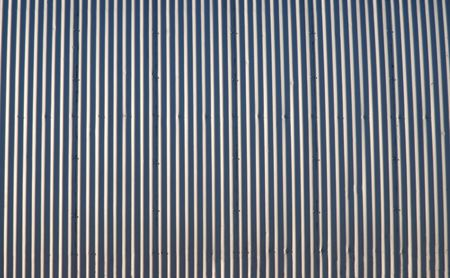 steel: Old corrugated steel wall in the agricultural heartland.