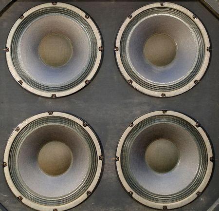 Big bass speakers in a pro audio speaker cabinet. Stock Photo - 4965795