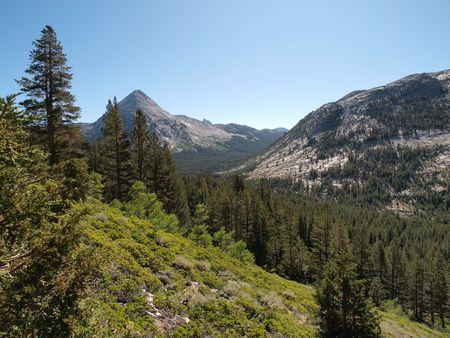 john muir wilderness: Piute Canyon en el desierto de John Muir Bosque Nacional de Sierra Foto de archivo