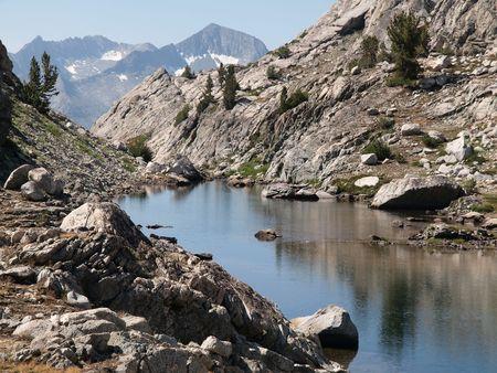 john muir wilderness: Punta de lanza del Lago en el desierto John Muir Bosque Nacional de Sierra.
