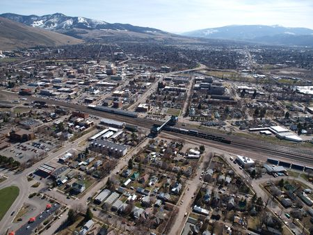 Aerial view of the city of Missoula Montana. Stock Photo - 5397062