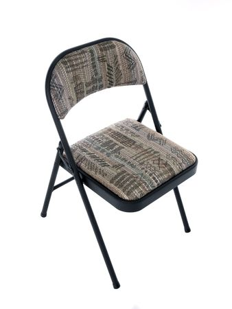 Folding office chair with soft seat cushion.     Banco de Imagens