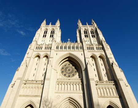 Warm afternoon light at the famous national cathedral in Washington DC. Stock Photo - 5454636